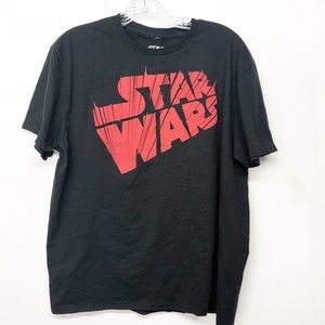 Luca Films Star Wars Black Graphic Tee T-shirt